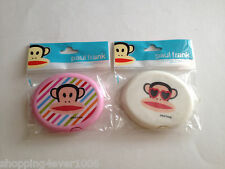 New Paul Frank Julius Compact Hair Comb and  Mirror Pink White Gift Cute Monkey