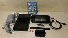 Nintendo Wii U Console Bundle, 32GB, Black, Tested, 1 Game, New Super Mario Bros