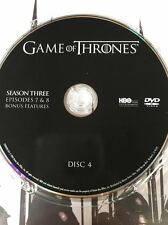 Game of Thrones Season 3 disc 4 Replacement Disc DVD ONLY