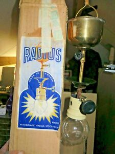 RARE  RADIUS NO 107 HANGING KEROSENE LANTERN LAMP SPIRIT LANTERN PERFCT CON