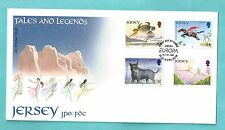 Jersey First Day Cover FDC 1997 Tales and Legends Bull Black Horse Dog