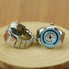 Crystal Ring Watch Steel Stretchy Quartz Finger Watches Lovely Delicate Girls