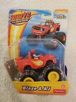 Fisher Price Nickelodeon Blaze and the Monster Machines BLAZE AJ Die-cast Truck