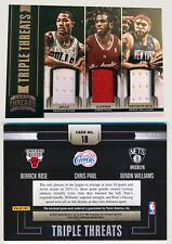 2012-13 Panini Threads DERRICK ROSE CHRIS PAUL DERON WILLIAMS GU Triple Jersey