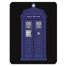 BLUE POLICE BOX PC Computer Mousemat Mouse Mat Pad Gift Phone Call Box London