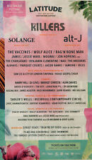 LATITUDE FESTIVAL 2018 ADVERT THE KILLERS SOLANGE ALT J THE VACCINES WOLF ALICE