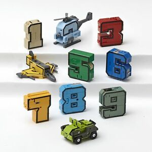 Educational Transforming Numbers 0 Through 9 Robot Action Figures
