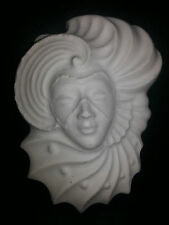 Lady face rubber latex mould mold wall decor embellishment plaque new art craft