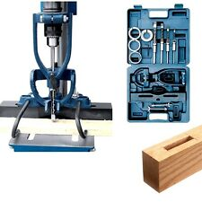 WOOD MACHINE MORTISING Jig ATTACHMENT For Drill Press MORTISE CHISEL Drilling
