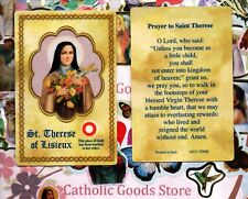 Saint Therese - Prayer to St. Therese - Relic Paperstock Holy Card
