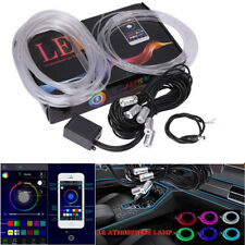 5 In 1 RGB LED Car Neon 6M EL Strip Light Sound Active Bluetooth Phone Control