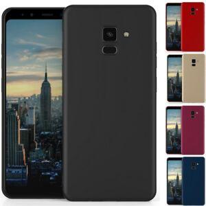 Galaxy A8 2018 Coque Housse Etui Silicone Opaque Antichocs Samsung Gel Tpu