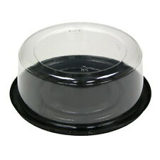 New listing Pactiv Pwp Pet Plastic Round Cake Container Clear Dome Black Base | 100/Case