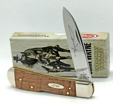 Case John Wayne Tribal Lock Knife  with Curly Oak Handles