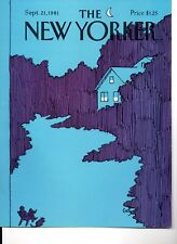 NEW YORKER MAGAZINE ORIGINAL COVER DATED 21ST SEPTEMBER 1981
