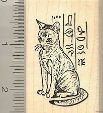 Abyssinian Cat rubber stamp H10003 WM Egyptian