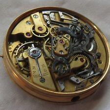 Casa Escasany Chronograph Rattrapante Pocket Watch movement & enamel dial