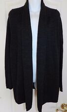 WOMENS open front 100% wool CARDIGAN sweater jacket = GAP = Small =  ab98