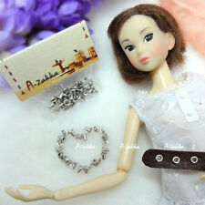 Doll 1/6 Dollfie Dress Making DIY Craft Metal Mini Eyelet 2mm Silver  (30pcs)