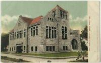 Postcard Santa Rosa CA Public Library California Street View Undivided 1900's