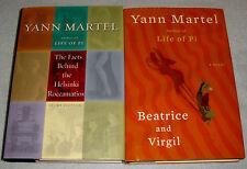 Lot of 2 Books by Yann Martel~Facts Behind Helsinki Roccamatios~Beatrice&Virgil