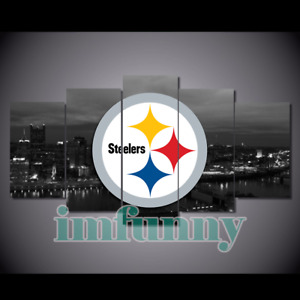 5Pcs PITTSBURGH STEELERS City Canvas Picture Print Painting Wall Art Home Decor