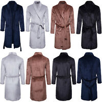 Luxury Mens Sleepwear Coral Fleece Robe Nightwear Thick Pajamas Gown Bathrobe