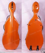 Cello Case Fiber glass Strong Convenient 4/4 Hard case High quality Orange #13