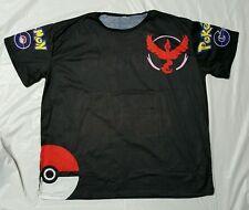 Pokemon Go Team Valor  Pokeball Nerd Anime T-Shirt Tops Size XL unisex