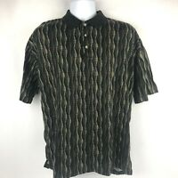 Vintage Tundra Crazy Polo Shirt Retro 100% Mercerized Cotton Mens XL