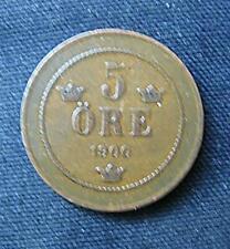 Munt Zweden/Sverige: 5 Öre 1900 in zeer fraai