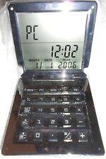 EDLER CALCULATOR Taschenrechner Reisewecker Wecker USB PC EDEL PREMIUM ARCO NEU