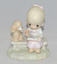 Precious Moments Porcelain Figurine LOVING IS SHARING (GIRL) E-3110/G