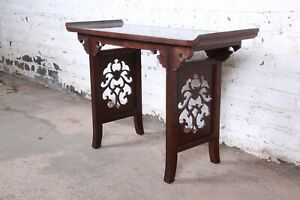 Michael Taylor for Baker Furniture Hollywood Regency Chinoiserie Console