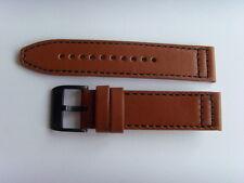 fossil ORIGINAL rechange bracelet en cuir ch2666 de montre Brun 22 mm Marron