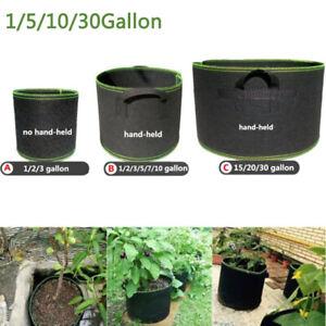 1-30 gallon Fabric Plant Bag Grow Pots Aeration with handle Grow Bags Basket