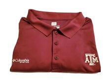Mens Columbia Omni Shade Texas A&M Polo Shirt Short Sleeve Size XXL
