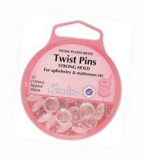 Hemline Twist Pins Spiral Shaft 13mm Strong Grip Upholstery Home & Mattresses