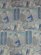 VINTAGE ART DECO OLD STORE WEDDING WRAPPING PAPER 2 YARDS GIFT WRAP