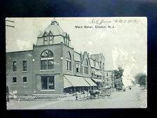 1913? Stores Main St. Clinton NJ post card as is
