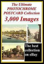 3,000 Vintage Photochrome Antique Vintage Postcard Colour Photo Business CD