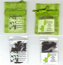 Baby Shower 25 Green Favors *Baby Dinosaur Theme * Baby's Breath Seeds Free Ship