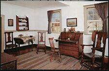 WINSTON SALEM NC Old Salem Matthew Miksch House Best Room & Shop Vtg Postcard