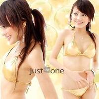 HOT Women's Sexy Lingerie Beach Swimwear Halter Bra + G-string Bikini Set CHARM