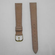 Cinturino pelle stampa vitello colore beige ansa 17 fibbia dorata  b70