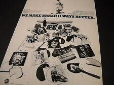 Potliquor Walrus Catfish Hodge Salem Travelers others 1973 Promo Poster Ad mint