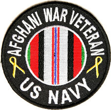 BRAND NEW US NAVY AFGHANI WAR VETERAN MILITARY IRON ON PATCH