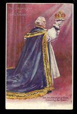 Royalty CORONATION Edward VII Archbishop u/b PPC Tuck 652