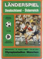Länderspiel 02.04.1980 Deutschland - Österreich in München