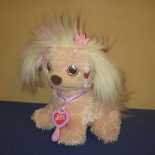 "2005 Hasbro Pkayskool Pink Mommy Puppy Dog 10"" Plush w/ Heart Cheek & Brush"